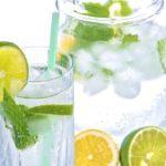 Mineralwasser Limone Zitrone Eis